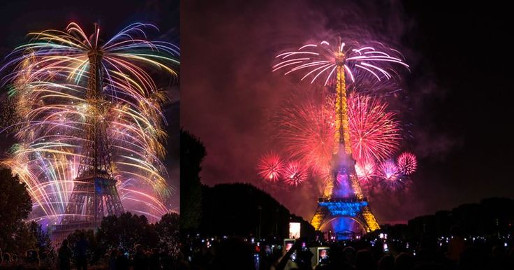 bastille day eiffel tower fireworks