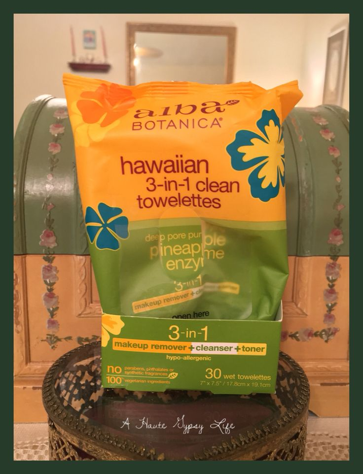 🍍Alba Botanical Hawaiian 3-in-1 Towelettes: my go to, no rinse makeup remover - smells like yummy pineapples! 🍍Hypoallergenic; alcohol free; biodegradable; cruelty free; vegan 🍍$3.90 for 30 towelettes 🍍www.jet.com (also sold at CVS)