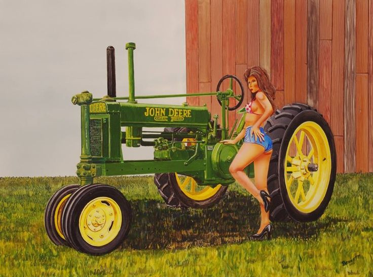 Girly John Deere Paintings : Best images about johnny popper on pinterest old