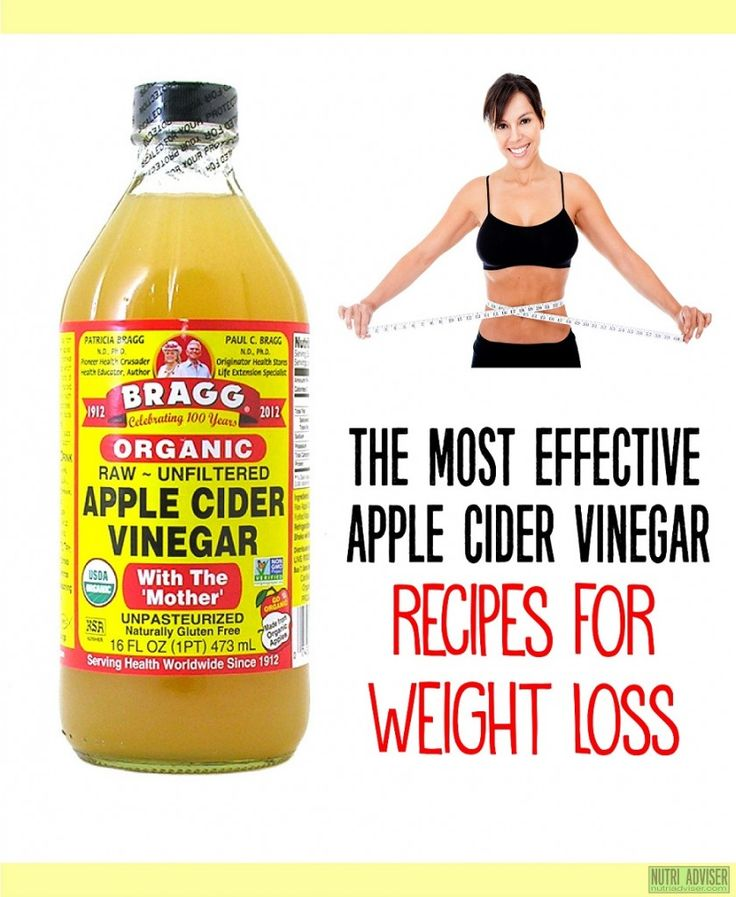 Apple cider with mother weight loss