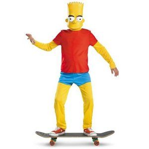 Child The Simpsons Bart Simpson Costume - Deluxe