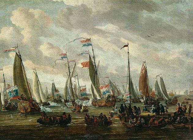 Zar Peter I. beim Besuch von England