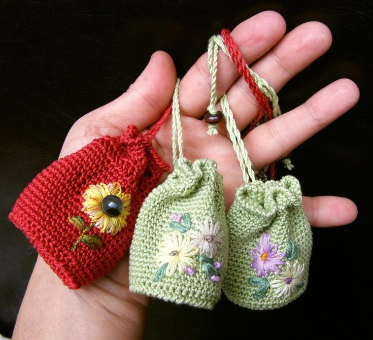 Tiny little drawstring bags...they don't hold much but who cares!