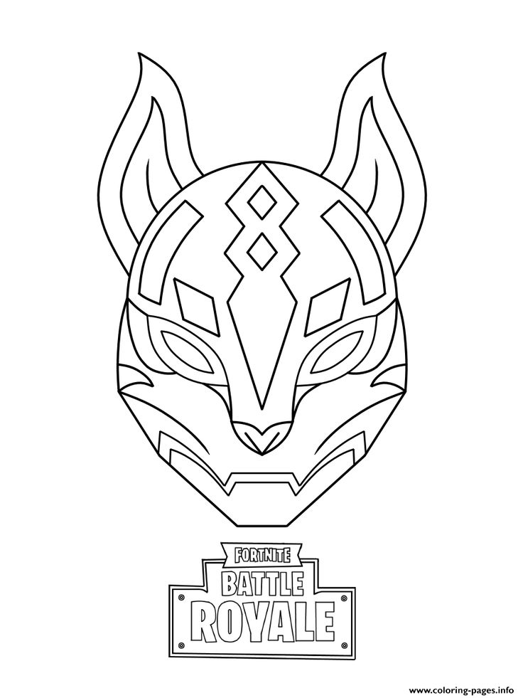 Print drift ultimate mask fortnite coloring pages in 2019