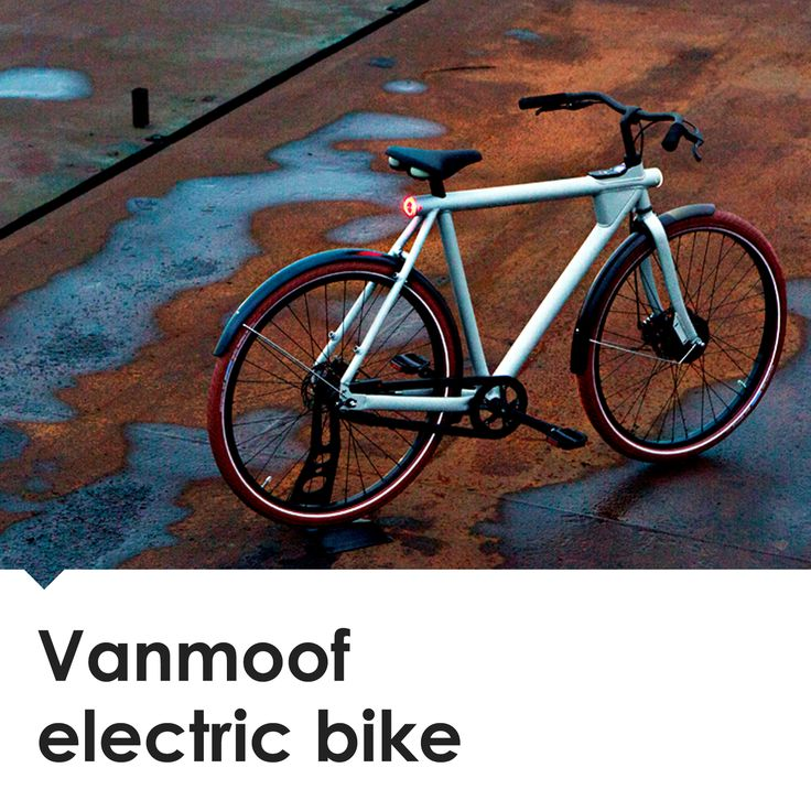 The Vanmoof Electrified features built-in GPS tracking via smartphone in the case of loss or theft.