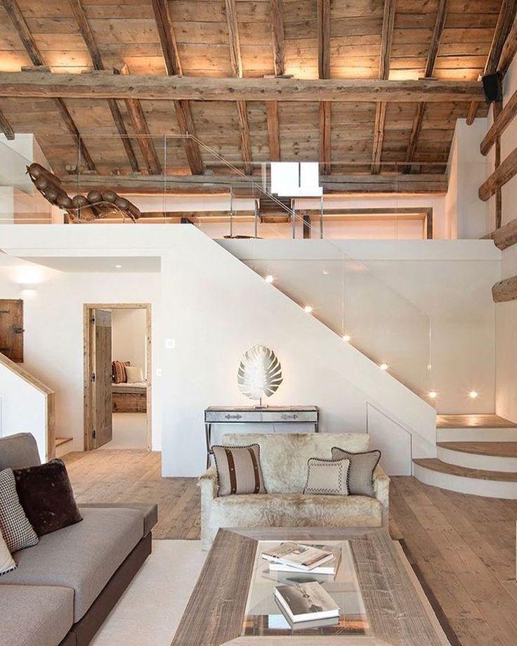 25 beste idee n over trapleuningen op pinterest leuning verbouwen trappen en hal verf - Mezzanine trap ...
