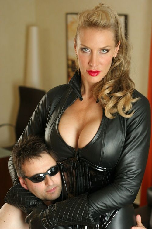 woman wearing leather gloves fetish