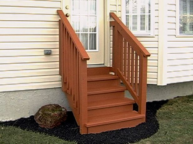 diy outdoor wooden steps 1