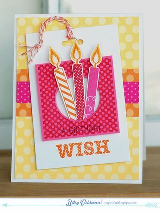 Birthday Wish Card by Betsy Veldman for Papertrey Ink (January 2014)