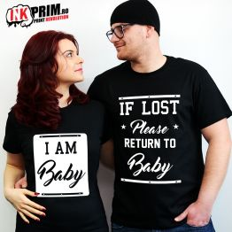 Set Tricouri Personalizate, If Lost Please Return To Baby