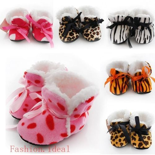 Baby Girl Winter Warm Boots Toddler Infant Soft Sole Shoes Newborn to 6 Months #NEW #Cribshoes