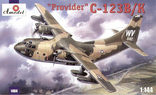 Fairchild C-123B / C-123K Provider. A Model, 1/144, injection, No.1404. Price: 13,86 GBP.