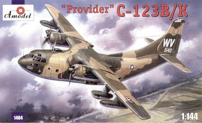 Fairchild C-123B / C-123K Provider. A Model, 1/144, injection, No.1404. Price: 13,86 GBP.
