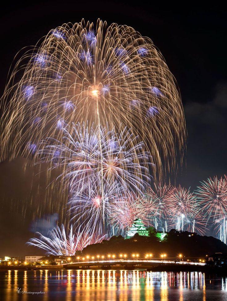 Fireworks over the Karatsu Castle, Saga, Japan, Photo by Kazuhiro Yamasaki