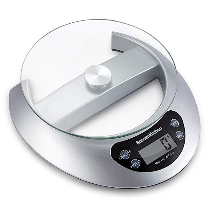Bonsenkitchen Digital Food Scale Sensitive Kitchen Scale For Cooking And Baking With Tare Function And Kitchen Scale Digital Kitchen Scales Digital Food Scale