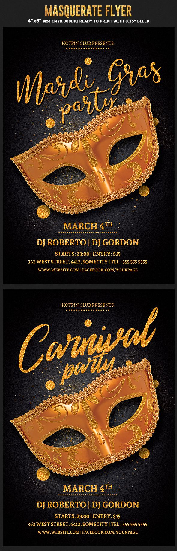 Masquerade Mardi Gras Flyer Flyer Design Inspirations Party