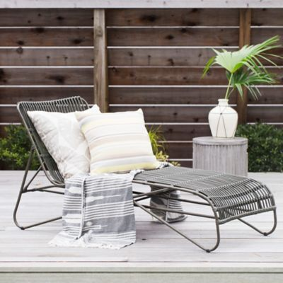 Open Weave All Weather Wicker Lounger