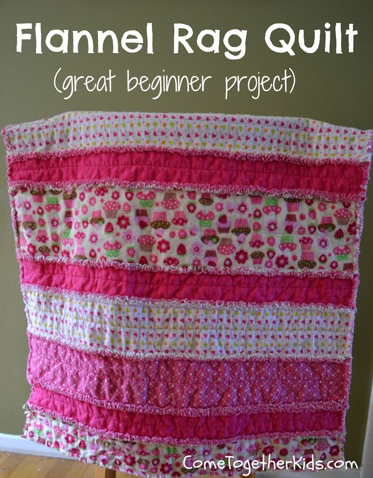 Beginner Quilt Patterns For Baby : Make this adorable baby quilt pattern for beginners! Baby Quilt Patterns Pinterest Rag ...