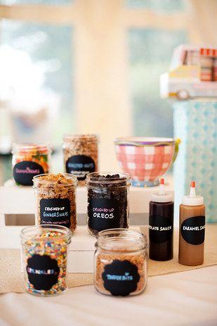 Una estación de helados: | 23 Asombrosos banquetes de boda que te darán ganas de casarte
