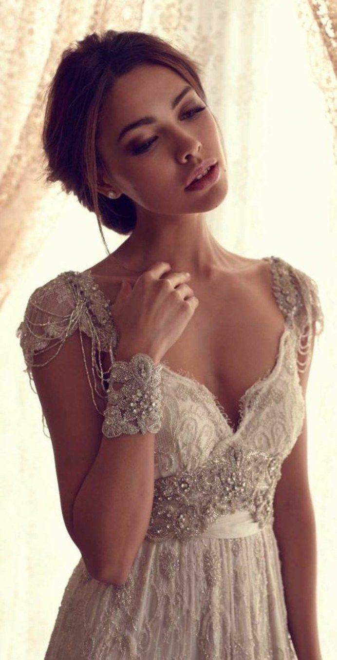 """Wedding Dress boho style called """"bohemian chic"""". It is an excellent replacement widespread in the Greek style dresses and finery with a corset. The fluid in the lung vestments boho-style dress will make the image"""