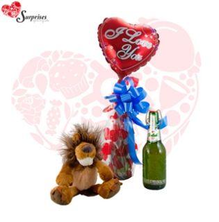 León Cariñoso. Hermoso regalo, para sorprender en cualquier ocasión, con estilo, le encantara. www.surprisesbogota.com tel: 4380157 Cel: 3123750098