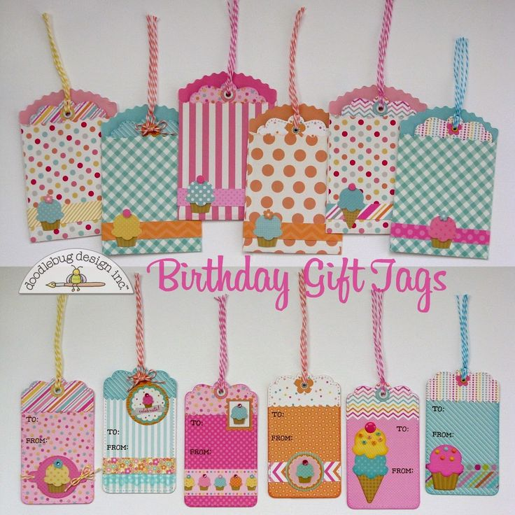 Snippets By Mendi: Doodlebug Designs Sugar Shoppe Birthday Gift Tags