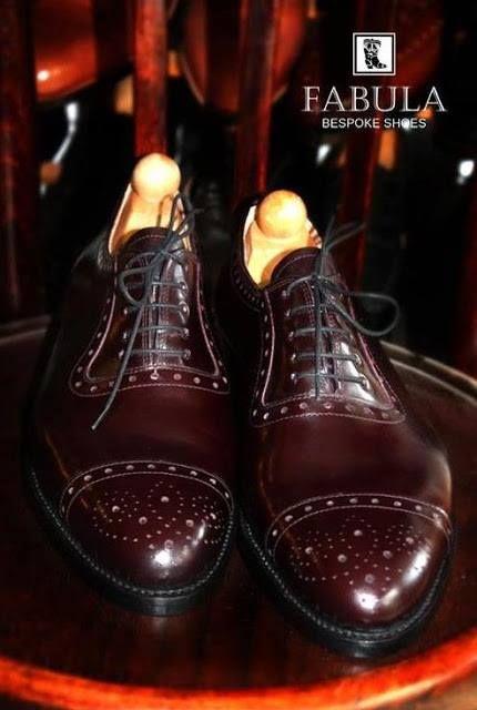 Fabula Bespoke Shoes. Unique handmade, bespoke men's shoes.  Modell: Oxford modell