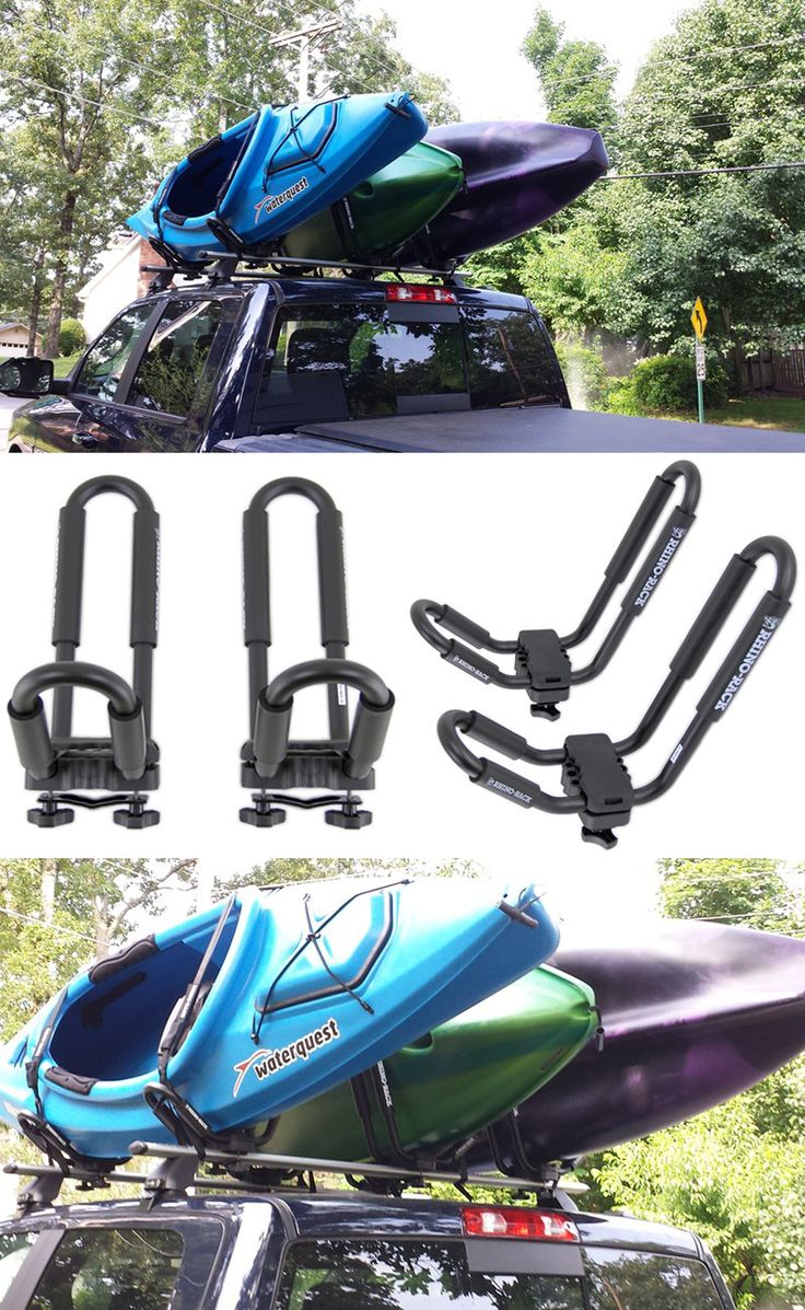 Summer is under way! Get some watersport transportation ideas from etrailer.com! These Rhino Rack J-Style Kayak Carriers attach your kayak to the roof of the car securely - will work for long road trips to the lake or ocean! These cradles accommodate a variety of watercraft sizes and can carry up to 99lbs!