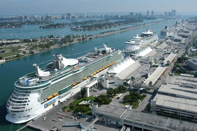 Cruise Terminal Miami. It Is Amazing To Be Driving Past