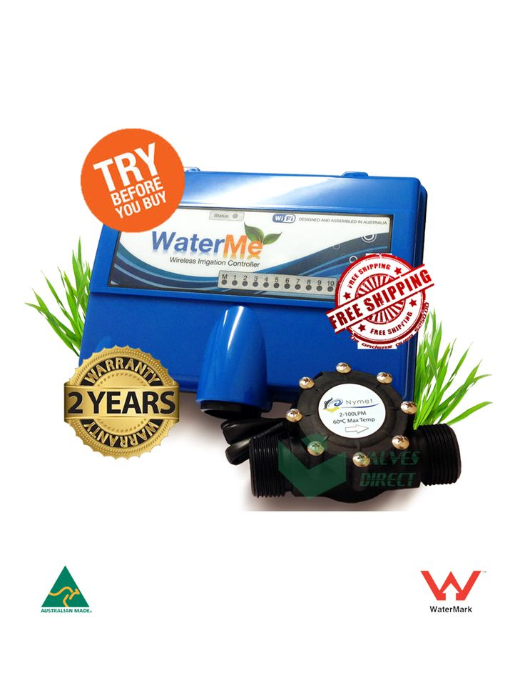 WaterMe – Wireless Irrigation Controller(Wireless Version). Remote access via mobile app or computer (internet connection required)