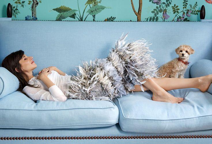 Blue sofa- Living room inspiration ideas.