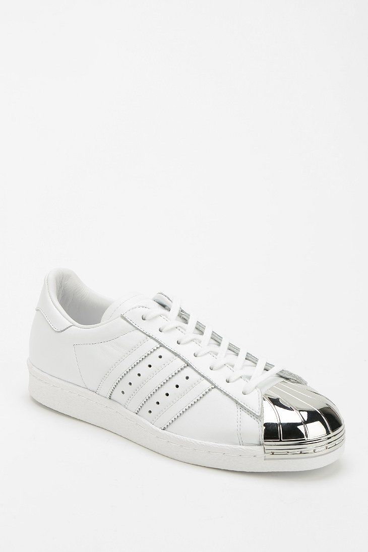 Adidas White Shell-Top Sneakers - The metal version of my favorite high  school sneaks