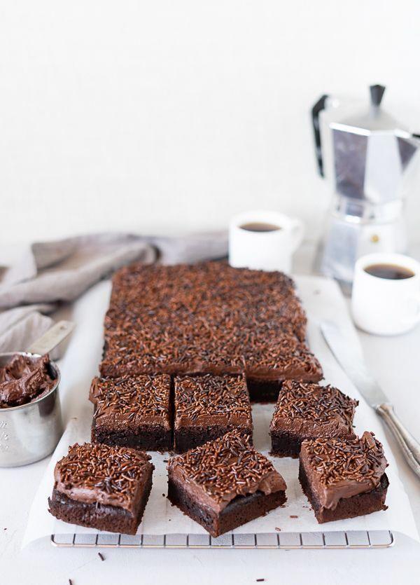 Einfacher Saftiger Schokoladen Espresso Kuchen Mit Schoko