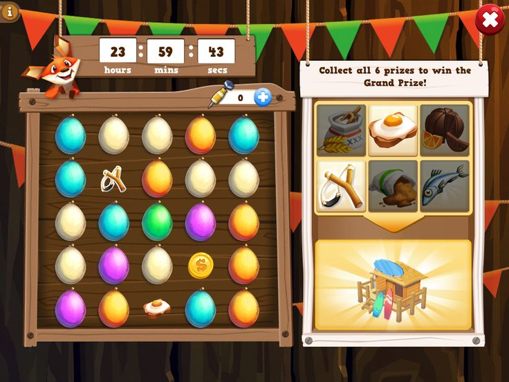 Farm Story 2 | Mini Game Pipers Tree House | UI HUD User Interface Game Art GUI iOS Apps Games