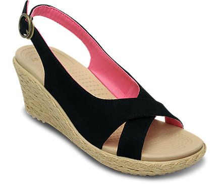 Women's A-Leigh Linen Wedge | Women's Heels & Wedges | Crocs Official Site Most comfy heels I have worn.  Size 8 hunny!