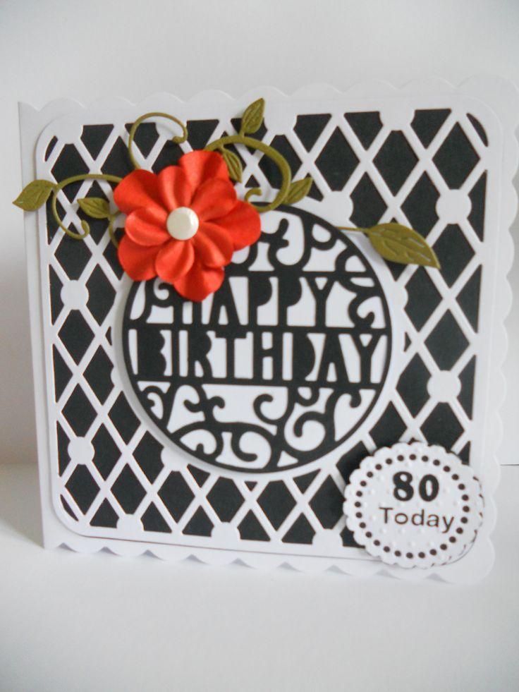 Tonic boudoir square,pop up Happy Birthday.