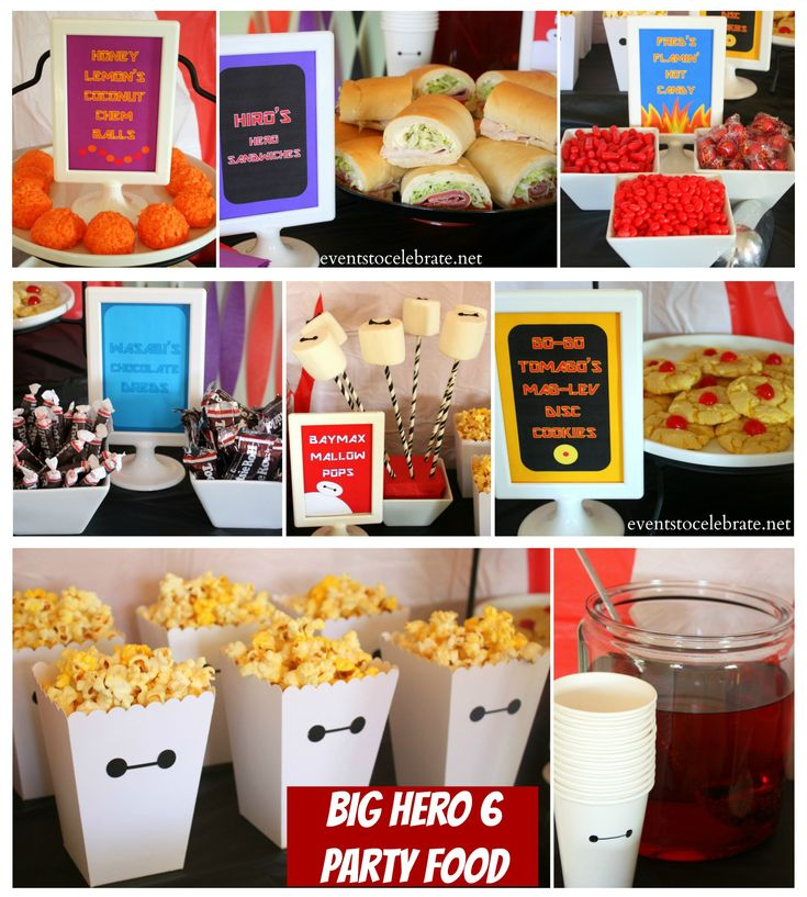 Big Hero 6 Birthday Party Themed Food- eventstocelebrate.net #BigHero6Release #ad