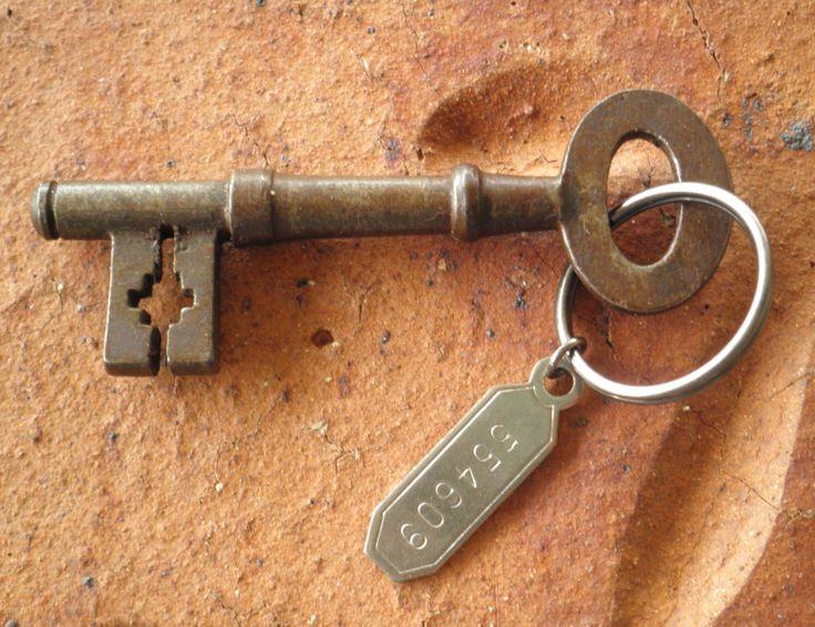 old victorian key with a genuine old tag hanging from it . nice antique key & tag @ stores.shop.ebay.com.au/KEYEDINKEYS