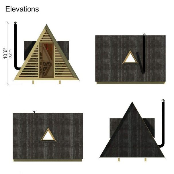 DIY shed plans, cheap A-frame wooden shed Lily