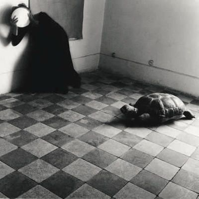 -doing my art history paper on her Yet another leaden sky, Roma Francesca Woodman. 1977-78