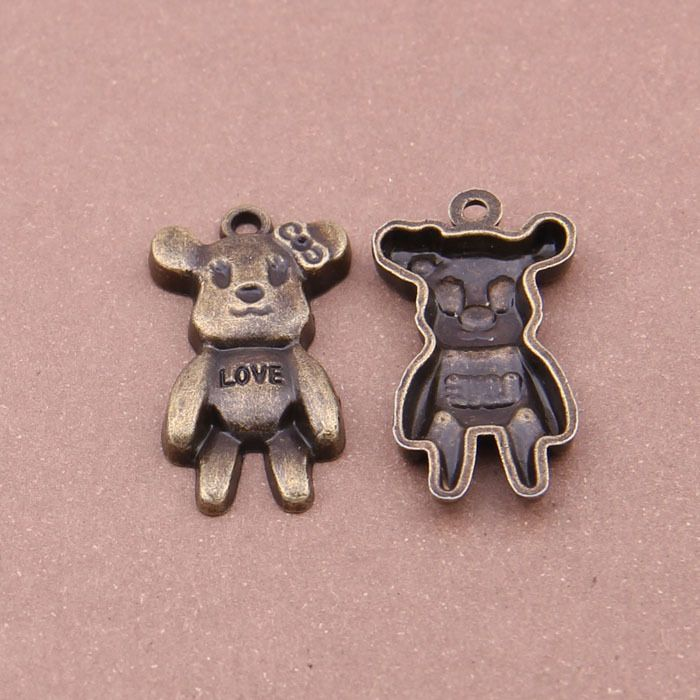 Find More Charms Information about 50pcs 32*21mm diy european bracelet Plated Bronze love Bear Animal fashion Alloy charm for necklace Pendant Jewelry Findings,High Quality charm bead bracelet,China charm bracelet jump rings Suppliers, Cheap charm bracelet tattoo from Playful beauty department store on Aliexpress.com