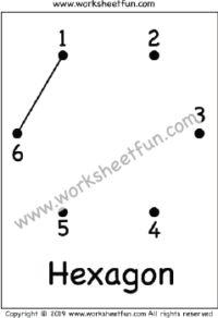 Dot to Dot – Hexagon Hexagon – Worksheet 1