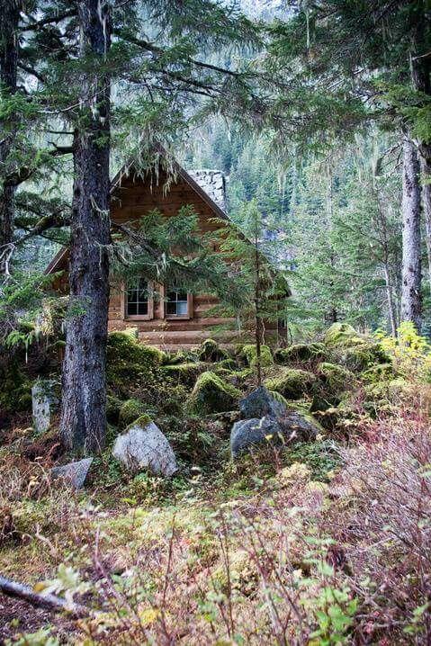 Alaskan cabin.