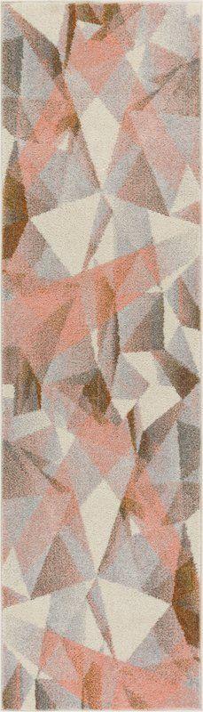 Langhorne Modern Geometric Prisma Triangle Pink Area Rug | AllModern