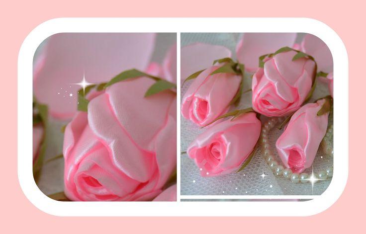 Como fazer lindos botões de rosa com fita de cetim. Aqui esta o outro video com esta rosa de cetim…
