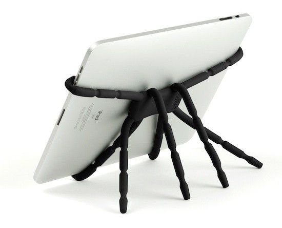 Breffo Spiderpodium stands,  are £17.99 for the phone size and £27.99 for tablet size.  British Made so a really good innovative product. Very flexible can be used in all sorts of situations and with various products. Available for the Laptop Station at the Enterprise Shopping Centre, http://www.enterprise-centre.org/shop/laptop-station