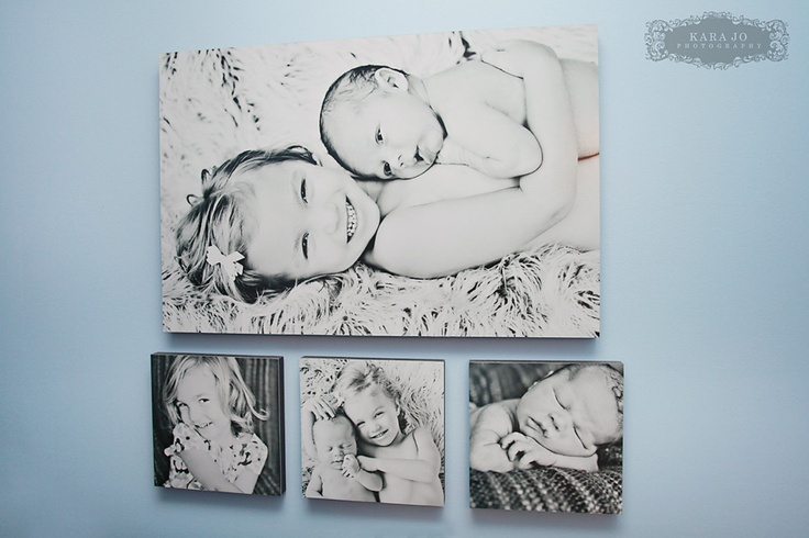 Great ideas on displaying canvas photo