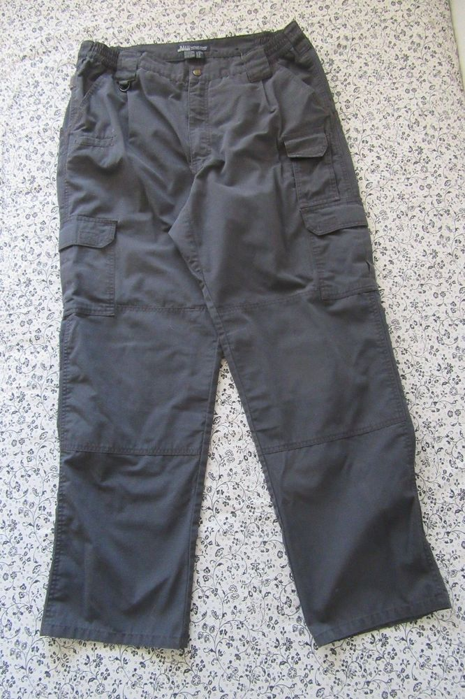 511 Tactical Series Mens Pants Cargo Navy Elastic Sided Waist Size 38X32 #511TacticalSeries #Cargo