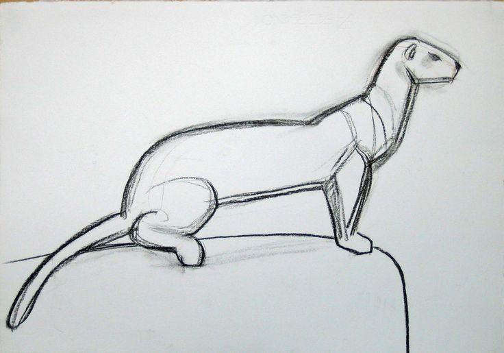 Hermelin, Kol, 35x50cm