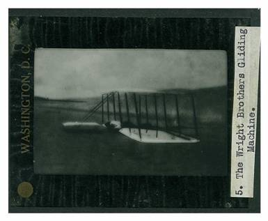 """Alexander Bell & Casey Baldwin 11 glass plate slides of early flights. Collection of 11 glass plate photos (plates measure 81mm x 100mm) in this collection with all in fine condition except """"June Bug"""" with two cracks. These 1907-1909 glass plates photographs are of early flights and aircraft related to the Aerial Experiment Association, Alexander Graham Bell and his colleagues including Casey Baldwin.  Only available as part of the Baldwin collection set, $12,000 USD"""